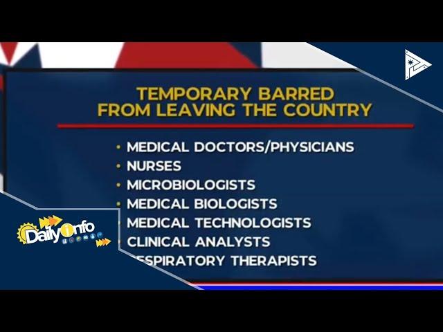 Poea Christmas Bonus 2020 POEA suspends deployment of Filipino health workers due to COVID